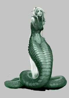 Insp中头目采集到人设(123图)_花瓣 Deeper Gorgon snake tail human col creature Fairy Town. ThiCCC snake woman Sire death and war naiad long hair sxy evil. Capri COL beginning