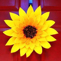 summer kids crafts | Summer Sunflower Wreath | AllFreeKidsCrafts.com