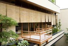 ponds and gardens built into the balcony/terrace; Guest Room | HIIRAGIYA
