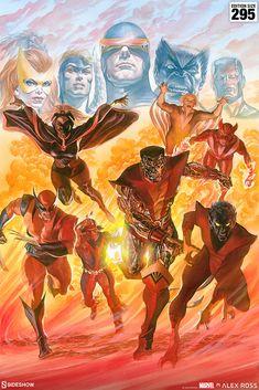 X-Men: Tribute Fine Art Lithograph by Alex Ross | Sideshow Collectibles Marvel X, X Men, Alex Ross, Sideshow Collectibles, Print Artist, Types Of Art, Great Artists, Fine Art Paper, Painting