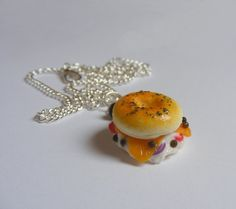 Food Jewelry Lox Bagel Miniature Food by NeatEats on Etsy