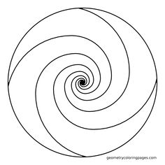 Mandala Coloring Page, Golden Ratio Spiral