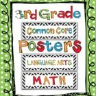 This adorable set includes all of the Common Core Standards for Third Grade and contains over 128 math and language arts standards for you to print...