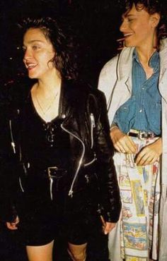 Madonna with Sandra Sandra Bernhard, American Bandstand, Go To New York, Bay City, Music Icon, Madonna, Take That, Turquoise, Model