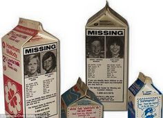 """Back when we bought milk in a carton, there was a campain fot Missing Children. """"Face on the carton"""" for many years you would always see the photo ID and information on the missing child. Chrildren were FOUND.  Why can't we put an end to this tragedy??"""