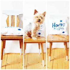 NB Kreatív Manufaktúra: Elements of office space: home office pillow and rustic chair with a litlle tuning. A dolgozósarok elemei: home office párna rusztikus...