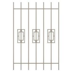 Unique Home Designs Modern Trifecta 36 in. x 54 in. Tan 7-Bar Window Guard-SWG0330TAN3654 at The Home Depot