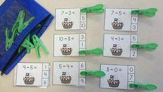 Pirates and Parrots Subtraction Math Centers (Minuends to 10) $ http://www.teacherspayteachers.com/Product/Pirates-and-Parrots-Subtraction-Math-Centers-Minuends-to-10-851813