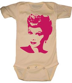 Lucille Ball - I Love Lucy - T-Shirt or Onesie - You Pick Colors and Size. via Etsy.