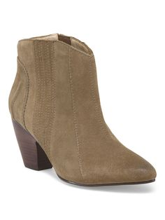 A tan bootie goes with everything in your wardrobe.