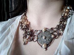 Love Lost Jewelry Set - Necklace Ear Cuff Earrings Victorian Steampunk style - Jynxbox
