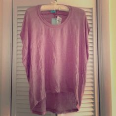 Sheer h.i.p. Hi low top Pink sheer hi low top by h.i.p. Great for casual wear! h.i.p. Tops