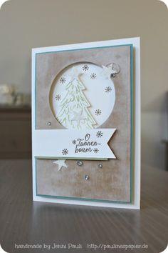 Weihnachtskarte mit Tannenbaum….