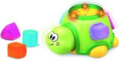 Shape Sorter- (has auditory and visual feedback when the child pushes the shape into the correct compartment)