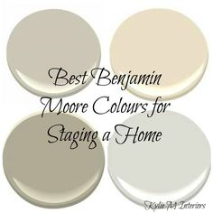 The Best Paint COLOURS for Home Staging or Selling Partner post to: The Top 8 Light Paint Colours for Home Staging To be perfectly honest with you, I'm not a designer who believes that all homes sell better when painted light, neutral colours. In fact, many homes sell faster and for more money because they are painted