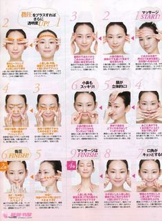 Japanese Facial Massage actually very easy to follow tried it this eve