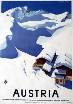 Austria - original vintage poster by Wurscheim listed on AntikBar.co.uk