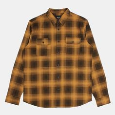 HUF Freeman Long Sleeve Flannel Shirt - Camel