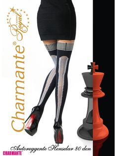 Charmante Intreccio Diva Tights 40 Denier Sheer to Waist Pantyhose 1 pair