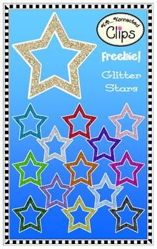 Clip Art Freebie...Glitter Stars!  All products/clipart on sale! (2/1-4/14)