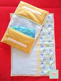 Bolsa para toalhitas e fraldas com muda fraldas