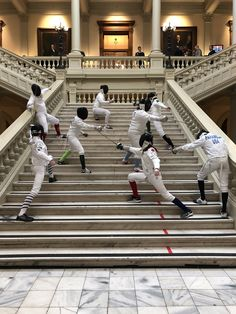"""DFC says: """"Well fenced!"""" to our DFC fencers who were part of the fencing demonstration team at GHSFL Day at the Capitol 2018"""