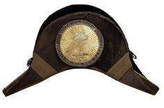 Chapeau, 1858-60, worn by Francis Wilkinson Pickens as Ambassador to Russia under President James Buchanan. His chapeau, made by Hayden & Whilden of Charleston, has a circular cockade with a palmetto tree and the South Carolina motto: Animis Opibusque Parati (Prepared in Mind and Resources). Charleston Museum