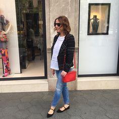 Isabel marant etoile Glenn jacket, lovesam top, zara jeans, Bloch red ballet pumps