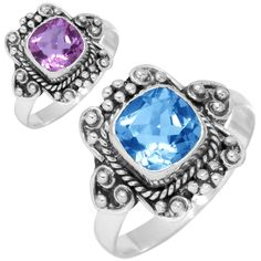 Solid 925 Sterling Silver Ring Alexandrite Color Change Gemstone Best Seller Jewelry Size M