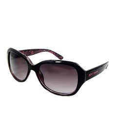 Love this Pink & Black Rectangle Sunglasses by Betsey Johnson on #zulily! #zulilyfinds