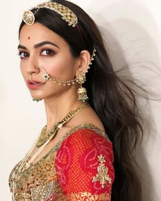 Bridal Jewellery Inspirations To Take From Housefull 4 Actresses And Where You Can Buy Them! - Bridal Jewellery Inspirations To Take From Housefull 4 Actresses - Nath Bridal, Wedding Jewelry, Bridal Jewellery Inspiration, Rajasthani Dress, Rajasthani Bride, Rajputi Jewellery, Indian Bridal Outfits, Indian Bridal Hair, Bengali Wedding