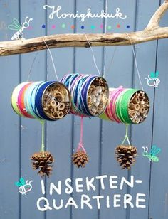 – Honigkukuk Insektenquartiere aus Blechdosen basteln Related posts:Decorate crafts letters with small objects 🙂 -- A ton of DIY super easy kids cr.Adorable AmigurumiEasy Caterpillar Craft for. Insect Crafts, Nature Crafts, Garden Crafts, Garden Kids, Kids Crafts, Diy And Crafts, Arts And Crafts, Upcycled Crafts, Recycled Cans