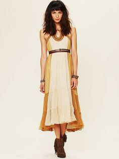 Free People True Romance Maxi Dress in Yellow (bronze) | Lyst