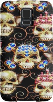 Gothic Bling Jewel Skulls Pattern | Snap Cases, Tough Cases, & Skins for iPhones 4s/4 5c/5s/5 6Plus & Samsung S3/S4/S5 Galaxy Phones. **All designs available for all models.