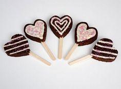 Heart Brownie Pop