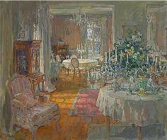 Susan Ryder RP NEAC (b.1944) — Ballroom, Le Beuvriere (816x686)