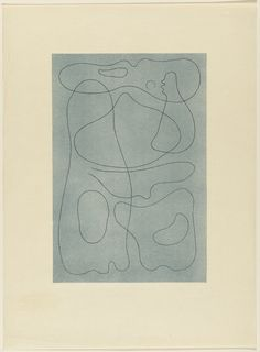 """Willi Baumeister. Composition. (n.d.). Lithograph. composition: 15 5/16 x 10 5/16"""" (38.9 x 26.2 cm); sheet: 22 15/16 x 16 7/8"""" (58.3 x 42.8 cm). Gift of Gordon Chadwick. 14.1948. © 2017 Willi Baumeister / Artists Rights Society (ARS), New York / VG Bild-Kunst, Germany. Drawings and Prints"""