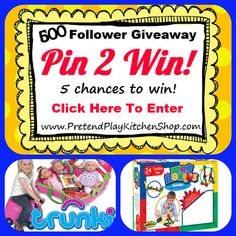 We're doing a giveaway of a fabulous Trunki, and 4 sets of Magneatos! Ends Nov. 20th. Click here to enter: http://www.pretendplaykitchenshop.com/blog/playkitchens/pin-2-win-giveaway #contest #sweepstakes #giveaway