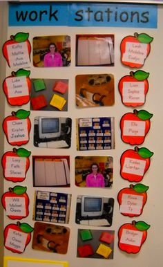 Work stations/centers.  I like this idea better for Pre-K and K (early readers)