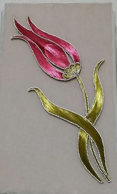 String Art Tutorials, String Art Patterns, Gold Embroidery, Embroidery Designs, Aluminum Foil Art, Nail String, String Crafts, Stained Glass Flowers, Turkish Art