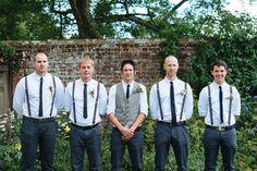 groomsmen - suspenders