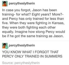 Wow<<< HOLY STARS  PERCY IS THE GREATEST OF THE TWO HANDS DOWN