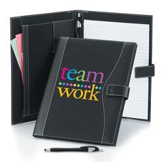 Teamwork Leatherette Portfolio With Pen