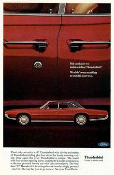 1967 Thunderbird #chevroletvintagecars