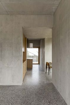 downstairs macs. walls made out of concrete? contrast between the floor and wall textures?