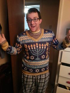 Jews can have ugly sweaters too #funny #jews #ugly #sweaters #humor #comedy #lol