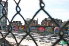 Graffiti along the railway in Beaconsfield Village, Toronto British Prime Ministers, Main Street, Toronto, Maine, The Neighbourhood, Graffiti, Real Estate, Explore, History