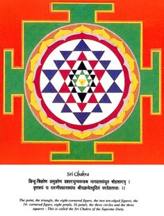 Meanings of Some Shapes and Symbols in the Yantra  The Sri Chakra or Shree Yantra is one of the most auspicious, important and powerful Yantras. It has proven beneficial for almost everyone. It is the source of attaining all worldly desires and fulfilling all wishes through inner cosmic power and mental strength.