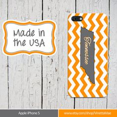 UT Vols iPhone 5 Cell Phone Case Tennessee Orange White by VinettaMae, $15.99 TN Volunteers