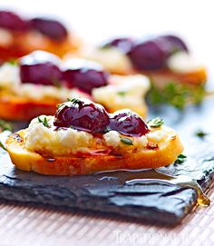 Goat Cheese and Cherry Bruschetta is a simple recipe to pull together. - Photo: Peter Krumhardt